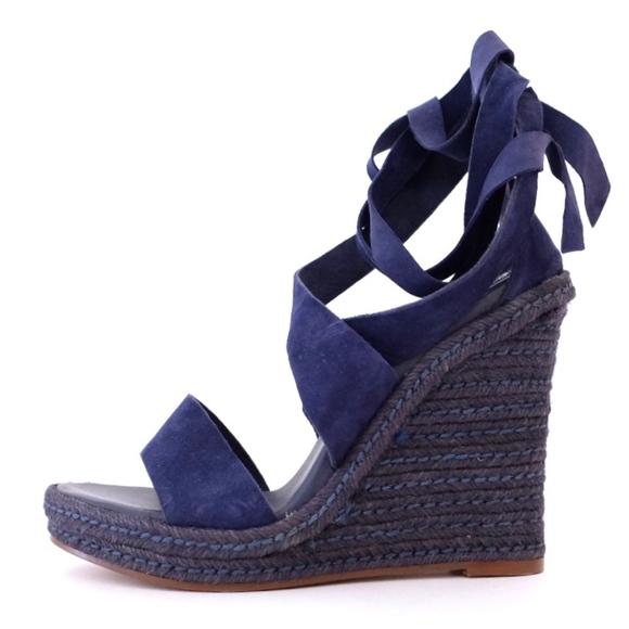 b61c5bad38 H&M Shoes | Hm Premium Leather Suede Wedge Heel Sandals | Poshmark